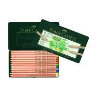 Карандаши цветные пастельные Faber-Castell Pitt 12 цветов в металлической коробке
