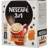 Кофе порционный растворимый Nescafe 3 в 1 карамельный 20 пакетиков по 14.5 г
