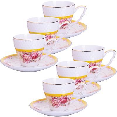 Сервиз кофейный Loraine Розы (25788) на 6 персон фарфор (6 чашек 90 мл, 6 блюдец 11 см)