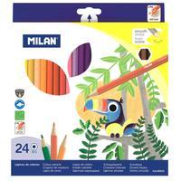 Карандаши цветные Milan 24 цвета шестигранные