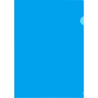 Папка-уголок Attache A4 пластиковая 180 мкм синяя (10 штук в упаковке)