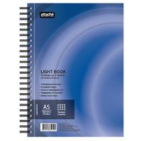 Бизнес-тетрадь Attache Selection LightBook А5 100 листов синяя в клетку на спирали (160х204 мм)