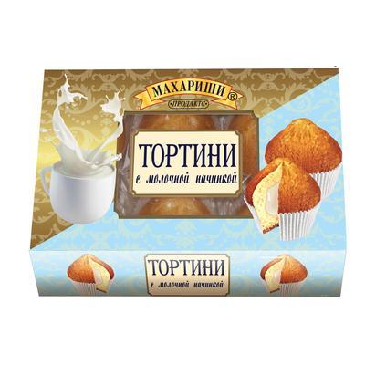 Кексы Махариши Тортини с молочной начинкой 200 г