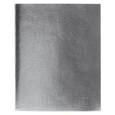 Бизнес-тетрадь Hatber Metallic А5 96 листов серебристая в клетку на скрепке (148x210 мм)