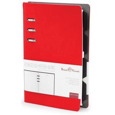 Ежедневник недатированный Bruno Visconti Firenze искусственная кожа А5- 120 листов красный (132x190 мм)