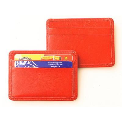 Картхолдер Grand на 16 визиток из натуральной кожи красного цвета (02-106-0751)