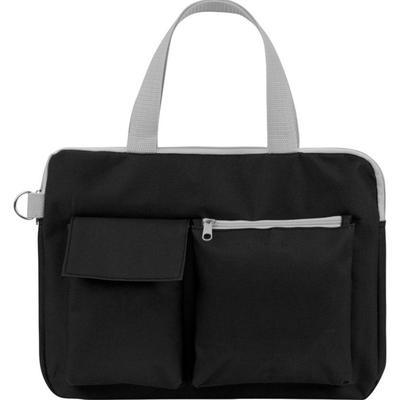 Конференц-сумка  для документов полиэстер Event черная (34x1.5x27 см)