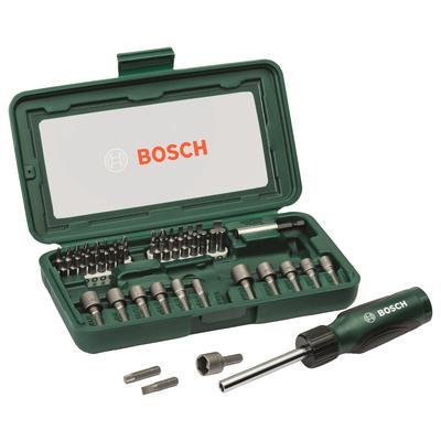 Набор бит и торцевых ключей Bosch с отверткой 46 предметов (2.607.019.504)