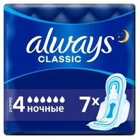Прокладки женские гигиенические Always Classic Night Single (7 штук в упаковке)