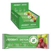 Батончик Леовит Детоксикационный ягодный (18 штук по 25 г)