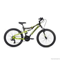Велосипед Larsen Fighter (черный/салатовый)