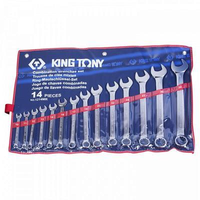 Набор комбинированных ключей King Tony 10-32 мм 14 предметов (1214MR)