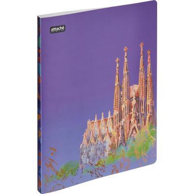 Папка с зажимом Attache Selection Travel Italy А4+ 0.5 мм розовая с рисунком (до 120 листов)