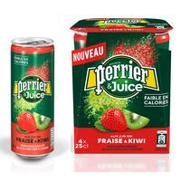 Напиток Perrier газированный с соком клубника-киви 0.25 л (4 штуки в упаковке)