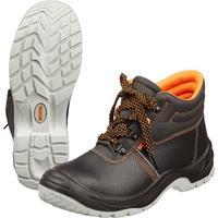 Ботинки Мистраль натуральная кожа черные с металлическим подноском размер 44