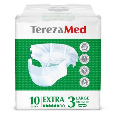 Подгузники Tereza Med extra large №3 (10 штук в упаковке)