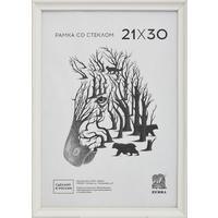 Рамка Зебра А4 21х30 см деревянный багет 15 мм белая