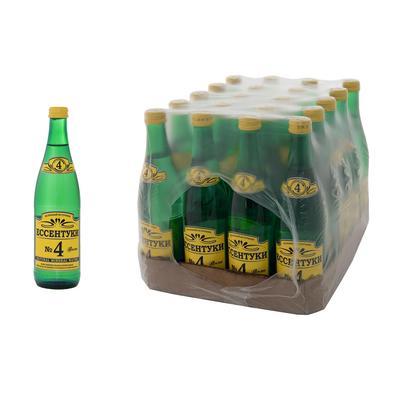 Вода минеральная Ессентуки №4 Тэсти газированная 0.5 л (20 штук в упаковке)
