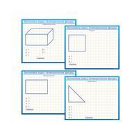 Стенд обучающий маркерный двухсторонний Постановка задач Геометрические фигуры