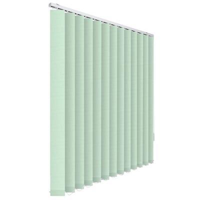 Жалюзи вертикальные тканевые светло-зеленые (скрин, 1500х2000 мм)