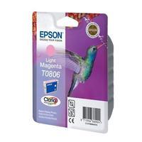 Картридж струйный Epson T0806 C13T08064011 светло-пурпурный оригинальный