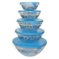 Набор салатников Irit стеклянные в ассортименте 5 штук в упаковке (артикул производителя GLSA-5-002/003)