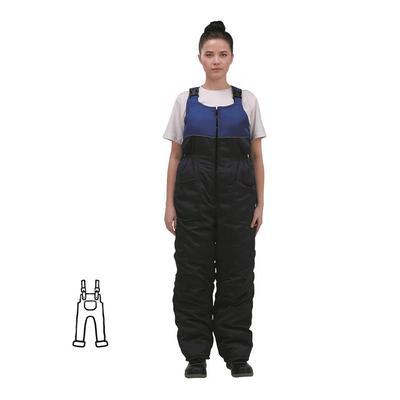 Полукомбинезон рабочий зимний женский з07-ПК синий/васильковый смесовая ткань (размер 64-66, рост 170-176)