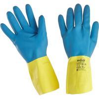 Перчатки Manipula Specialist Союз LN-F-05 из неопрена и латекса синие/желтые (размер 10, XL)