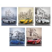 Тетрадь общая Канц-Эксмо Спортивные машины А5 48 листов в линейку на скрепке (обложка в ассортименте)