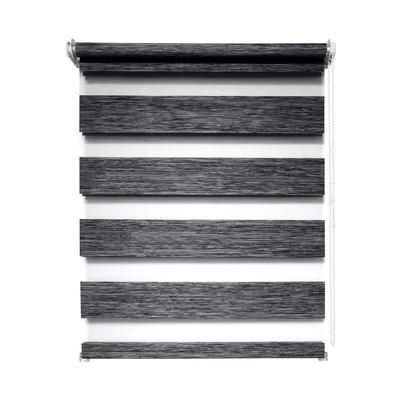 Рулонная штора день/ночь Канзас 8787 графит (500х1600 мм)