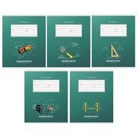 Тетрадь школьная Проф-пресс Классика и креатив А5 12 листов в клетку на скрепке (обложка в ассортименте)