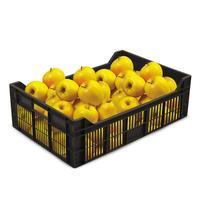 Ящик (лоток) фруктовый из ПНД 600x400x200 мм черный