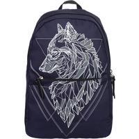Рюкзак молодежный №1 School Волк синий
