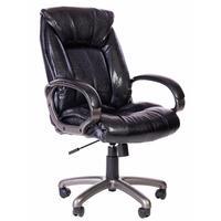 Кресло для руководителя 669 TPU черное (экокожа, пластик)