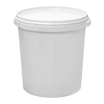 Ведро пластиковое 30 л белое с крышкой