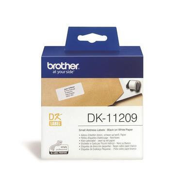 Картридж для принтера этикеток Brother DK11209 (62 мм, цвет ленты белый, шрифт черный)