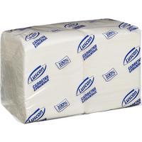 Салфетки бумажные Luscan Profi Pack 24х24 белые 1-слойные 400 штук в  упаковке