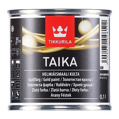 Краска декоративная интерьерная Tikkurila Taika KM золотистая 0,1 л