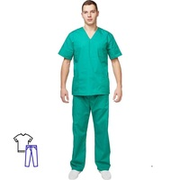 Костюм хирурга универсальный м05-КБР зеленый (размер 52-54, рост 182-188)