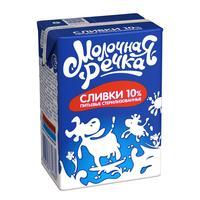 Сливки Молочная Речка стерилизованные 10% 200 г
