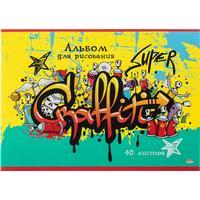 Альбом для рисования Проф-пресс Граффити А4 40 листов