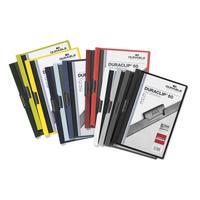 Папка с клипом для брошюровки Durable А4 до 60 листов цвет в ассортименте (толщина обложки 0.15/0.27 мм)