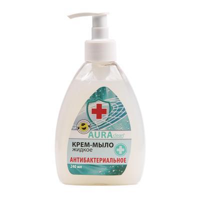 Крем-мыло Aura Clean антибактериальное 240 мл