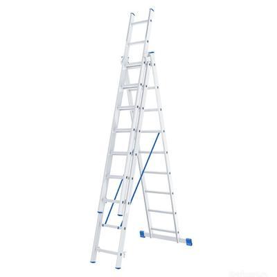 Лестница алюминиевая 3x9 ступеней Сибртех