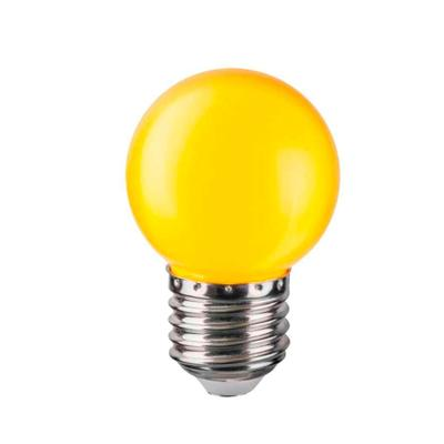 Лампа светодиодная Navigator 1 Вт Е 27 шарообразная желтый свет