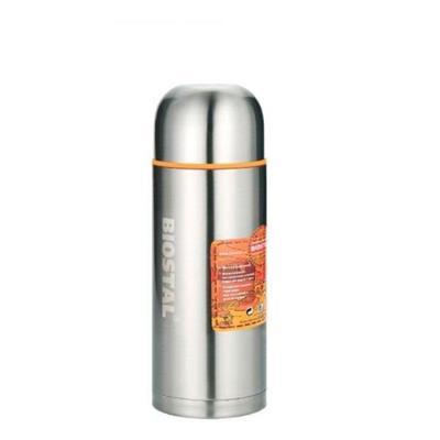 Термос Biostal 1 л металлик/оранжевый