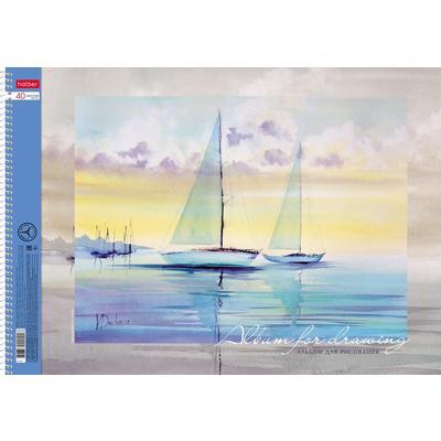 Альбом для рисования Hatber Белеет парус А3 40 листов