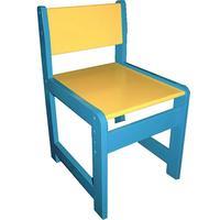 Стул детский регулируемый деревянный желтый/голубой (рост 2-3)