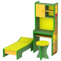 Комплект детской игровой мебели Больница (стойка с ростомером, кушетка, табурет)
