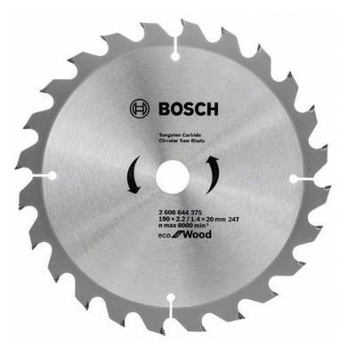 Диск пильный Bosch Eco wood 190х20/16 мм Z24 (2608644375)